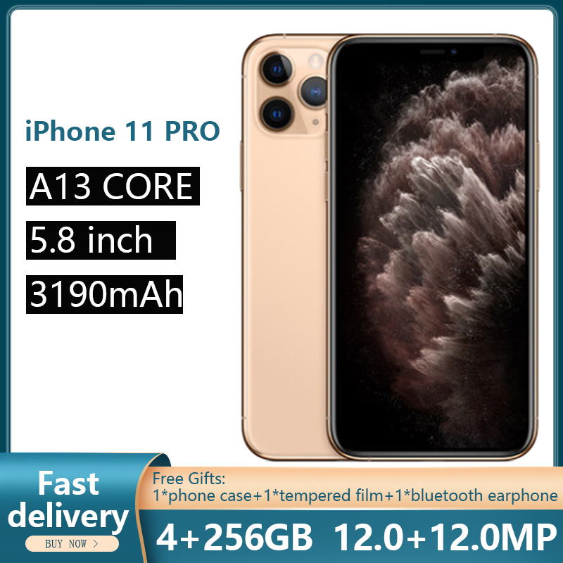Used Unlocked Original iPhone 11 Pro Mobile Phones 5.8Inch CellPhones Super AMOLED Display A13 Chipset IOS 13 Smart Phones