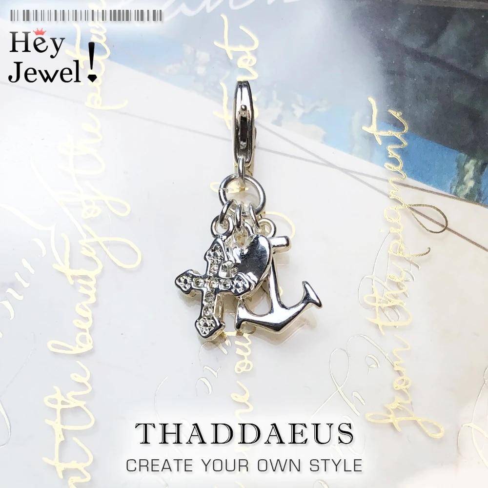 Faith Hope Charity sterlng silver charm .925 x1 Heart Cross Anchor charms