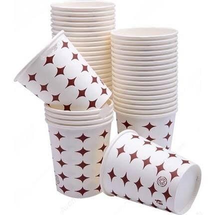 100 pièces tasses en papier boisson tasses en papier et boisson froide verres carton yaourt Beker papier tasses à café