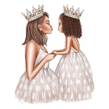 The New Crown Thermal Patches Mom Girl T-shirt Stickers Diy Princess Patch Heat Transfer For Clothing Easy Use Applique(China)