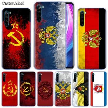 Emblema de la bandera de Rusia de silicona para Xiaomi Redmi Note 8T 9S 7 8 Pro 9 Pro Max 6 Pro 6A 7A 8A K20 K30 Pro cubierta transparente
