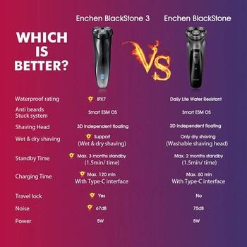 ENCHEN BlackStone Face Shaver For Men Rechargeable 3D Floating Electric Shaving Machine Beard Trimmer 2