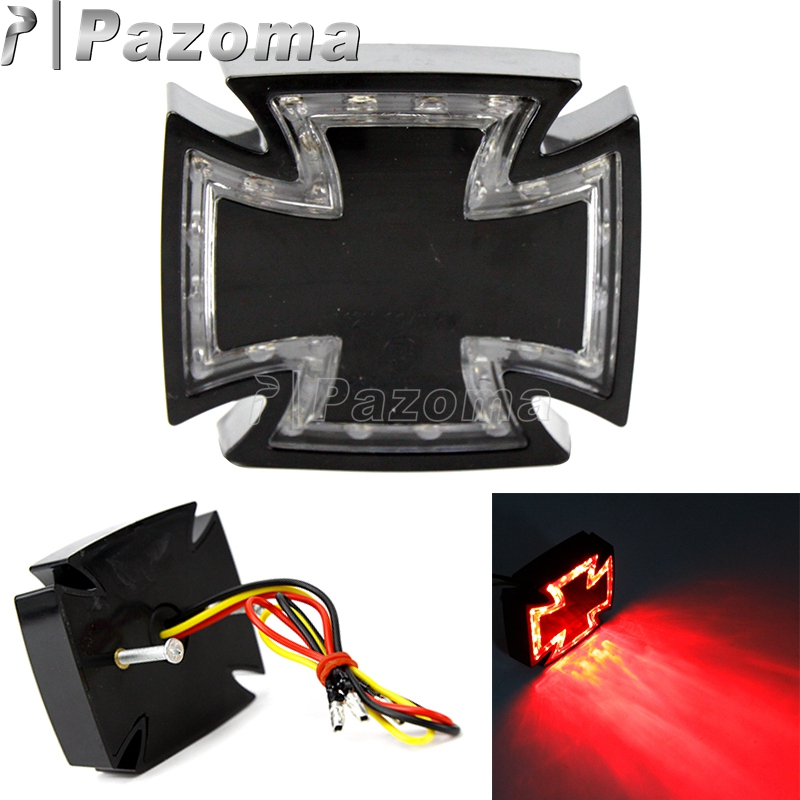LED Motorcycle Rear Running Brake Stop Tail Light 3 Wire 12V For Choppers Custom