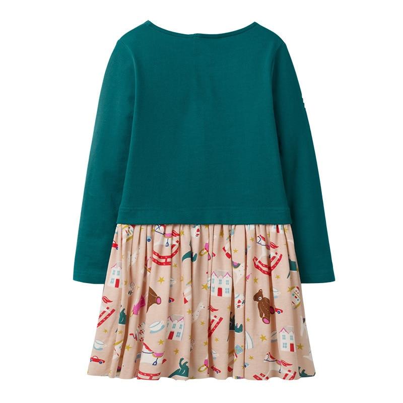 Little maven 2-7Years Baby Girls Unicorn Paillette Dress For Autumn Children's Kids Girl's Long Sleeve Dress Fall Clothing 3