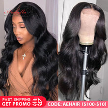 Brazilian Body Wave Closure Wig 180 Density Natural Arabella PrePlucked 4*4 6*6