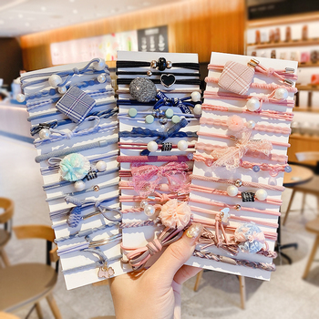 10/50/100 Pcs/Set Women Girls Sweet Colors Soft Elastic Hair Band Lady Solid Scrunchies Rubber Bands Female Hair Accessories 4