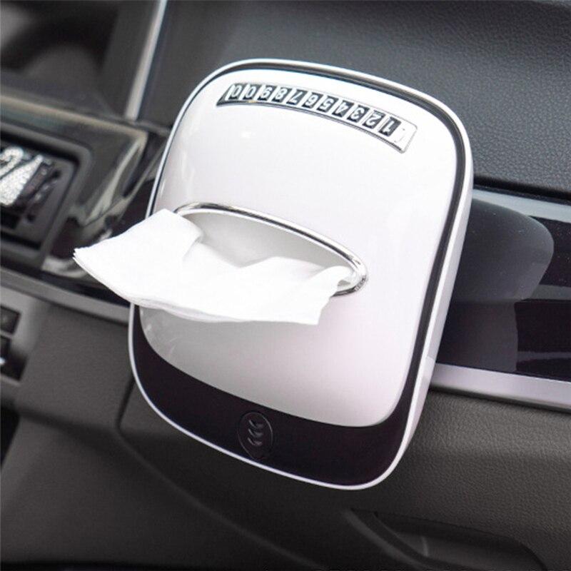 2021 Car Multifunctional Car Tissue Napkin Holder Creative Auto Parts Tissue Storage Box Non-slip Car Interior Accessories