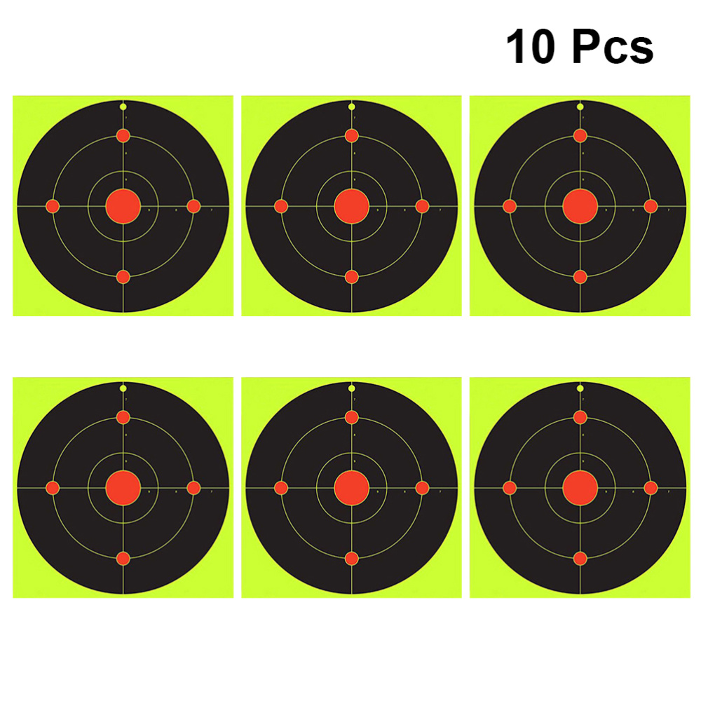 20 Pcs Fluorescent Green Shooting Target Shooting Sticker Bow Arrow Darts Supplies Aiming Sticker
