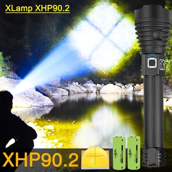 350000lm XHP90.2 High Power Led Flashlights XHP90 Most Powerful Flashlight 18650 XHP50.2 Rechargeable Tactical Flashlight Torch