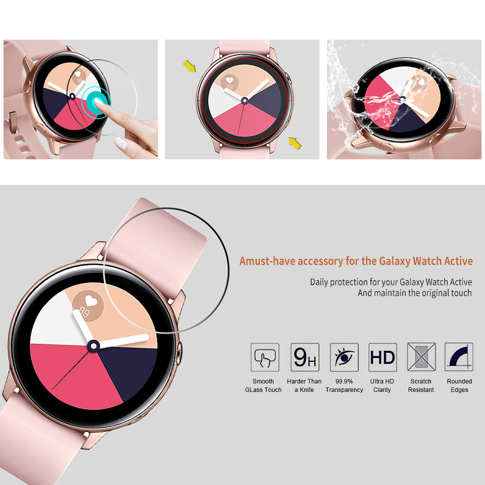 Image 2 - 3 Pieces Soft Hydrogel Film for Samsung Galaxy Watch Active 1 2 40m 44mm Protective Film Watch Screen Protector on Active 2 1-in Smart Accessories from Consumer Electronics