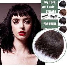 Синтетическая имитация челок волосы кусок неровность с бахромой, прикрепляющиеся к волосам челка парик, заколки, заколки для волос для нара...