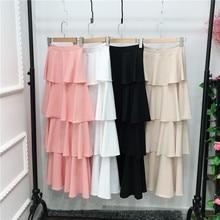 Muslim Skirt Islamic Clothing Uae Qatar Long Abaya Dubai for Women Oman Turkish Tutu
