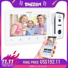 TMEZON 10 אינץ אלחוטי Wifi חכם IP וידאו פעמון בית אינטרקום מערכת, מסך מגע צג עם 720P Wired דלת טלפון מצלמה