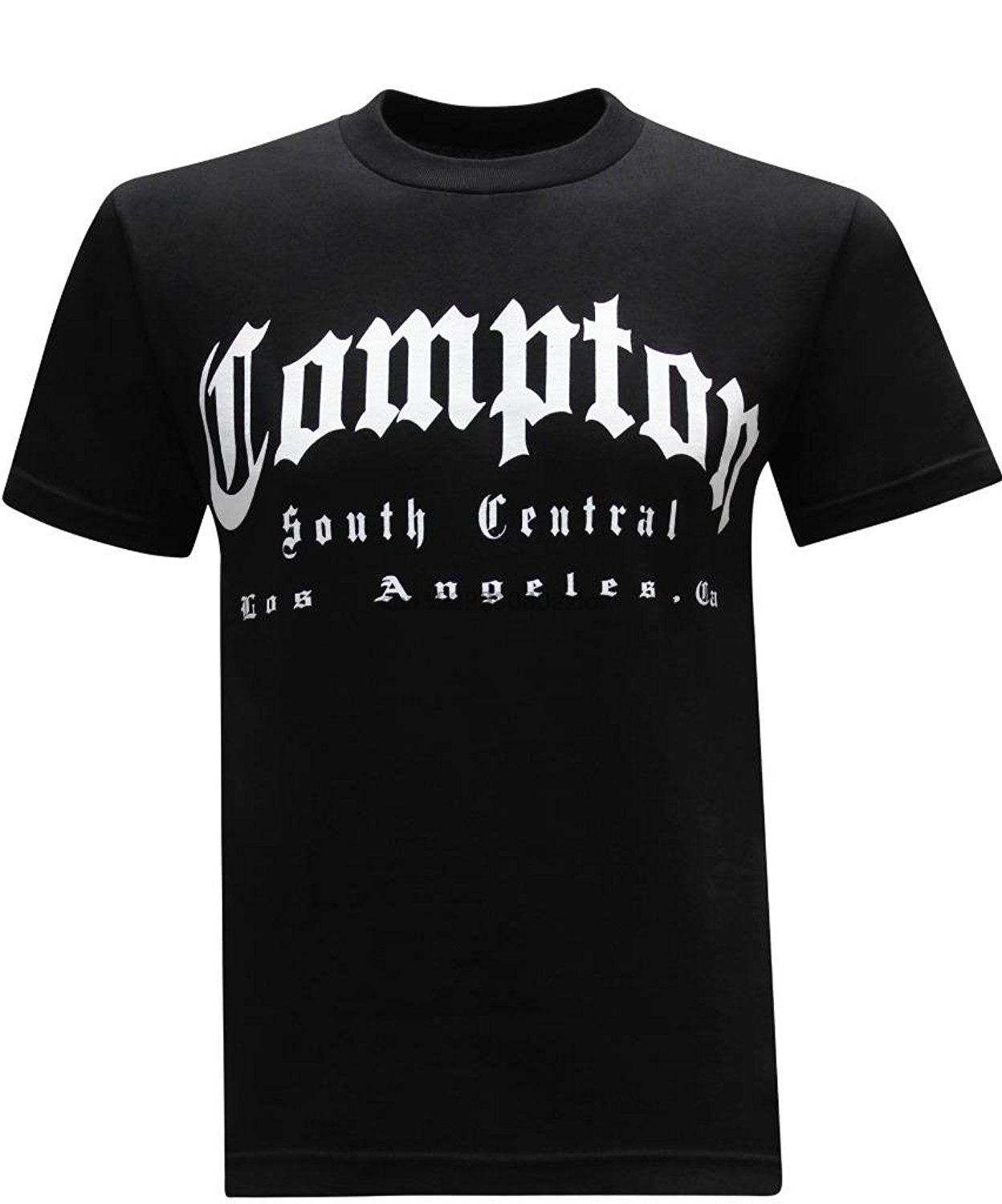 COMPTON T-shirt NWA 213 South Central Los Angeles CA Tee Adult Men Black New