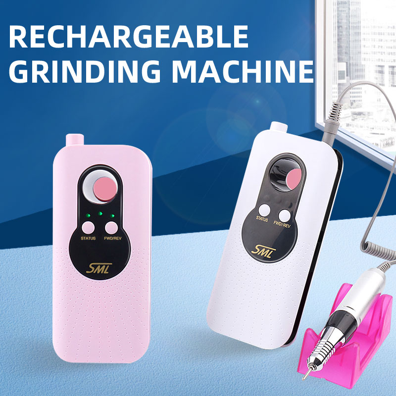 Nail Drill Machine For Manicure 35000RMP Rechargeable Portable Nail Grinding Machine Milling Cutter For Manicure Nail Master