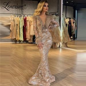 Image 2 - フェザービーズイブニングドレスドバイアラビア中東女性 2020 ローブ · ド · 夜会手作りウエディングドレス有名人のパーティードレス