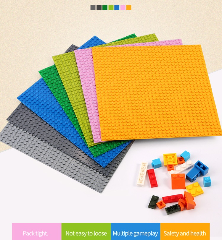 LEGOs Base Plate 32*32 16X32 16X16 Dots Base Building Blocks Baseplate DIY Plastic Plate Base Classic Brick Accessories Kids Toy