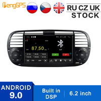 Android 9.0 GPS Navigation for FIAT 500 2007 2014 Built in DSP Car DVD Player Radio Multimedia 6.2 Inch Autoradio WIFI Headunit