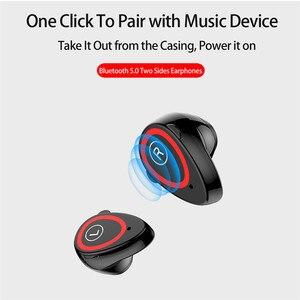 """Image 3 - Spor akıllı saat 0.96 """"M1 AI Bluetooth kulaklık ile nabız monitörü bileklik uzun bekleme süresi kablosuz kulaklık"""