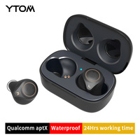 YTOM T1 Support AptX ACC TWS True Wireless Bluetooth 5.0 Earphone CVC8 Noise Cancellation With Super Bass HD Mic headset earbuds