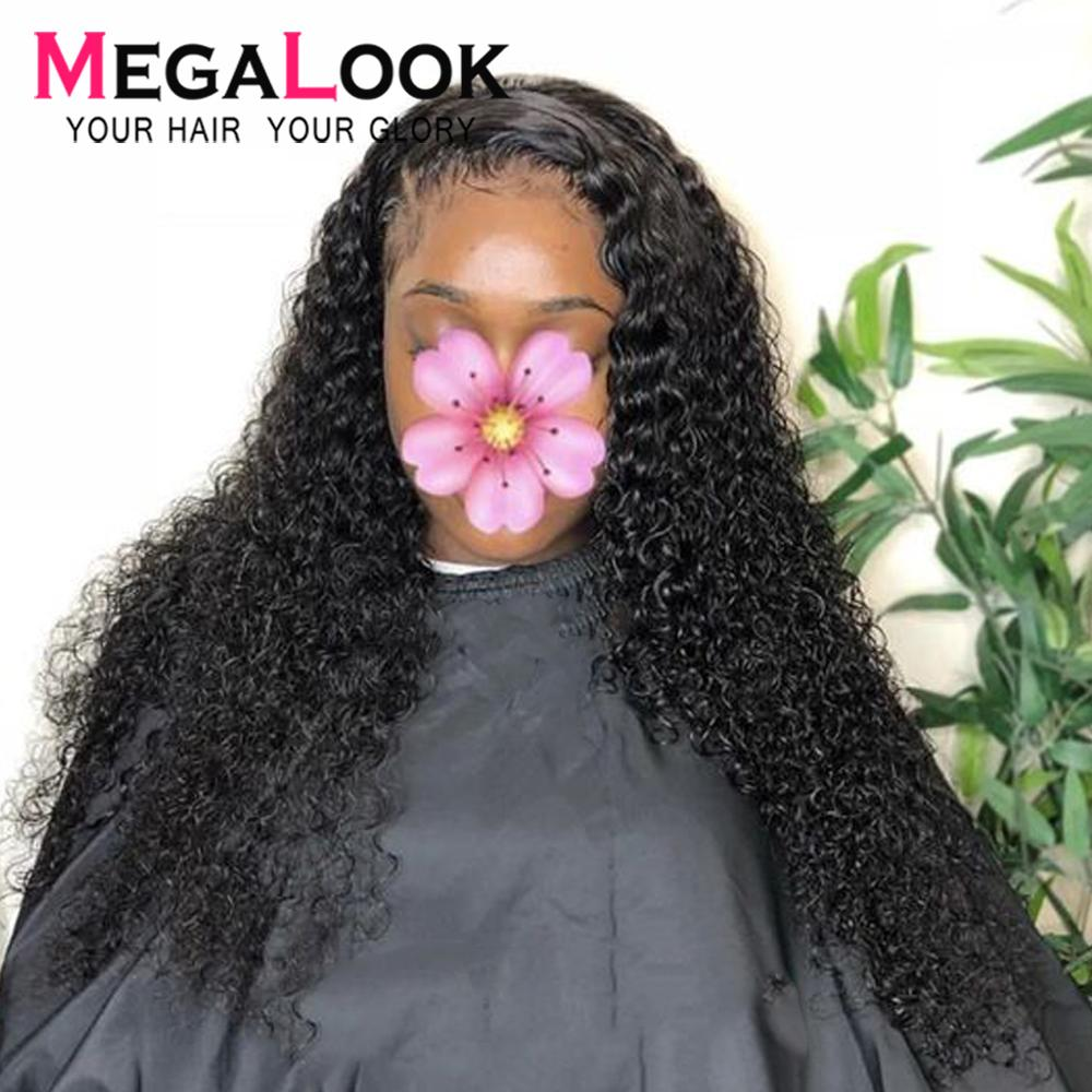 Deep Wave Wigs Glueless Lace Front Human Hair Wigs Pre Plucked Malaysian Remy Frontal Wigs For Black Women 13x4 Lace Front Wig