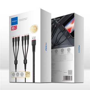 Image 5 - Kaya Hi Tensile Metal örgülü 6 in 1 şarj kablosu 2M aydınlatma C tipi mikro hızlı şarj kablosu iPhone için X 8 7 6 Xiaomi Samsung