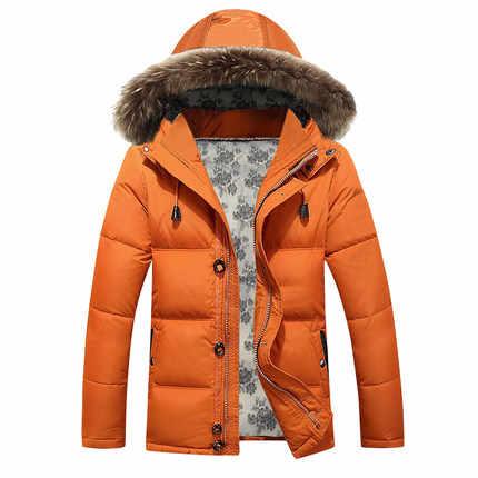 2020 sıcak rahat ceket Hood Faux rakun kürk yaka kış ceket erkekler rüzgar geçirmez sıcak Parkas artı boyutu HJ545