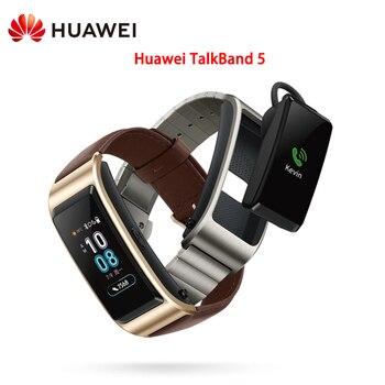Huawei TalkBand B5 Smart Wristband Global Version Touch AMOLED Screen Call Earphone Heart Rate Monitor Sports Wristband