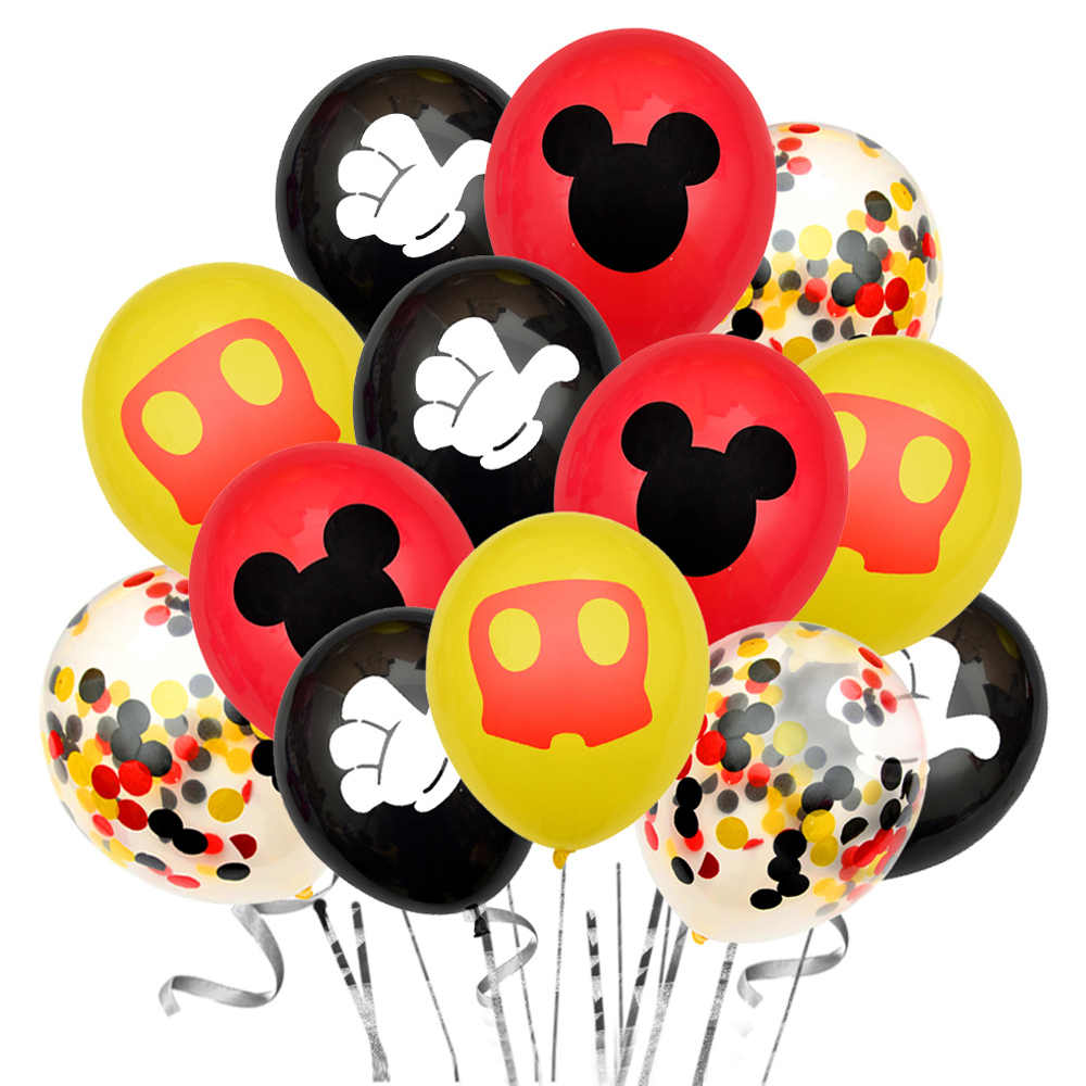 10/20Pcs 12Inch Cartoon Mouse Latex Ballonnen Birthday Party Bruiloft Decoratie Kids Opblaasbare Ballon Baby Douche Lucht globos