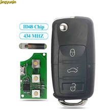 Llave de coche a control remoto con 3 botones, j0959753da/AH 1K0959753G, 434 MHZ, ID48, Chip para VW, paso, Polo, Skoda, asiento, Polo, escarabajo de Golf