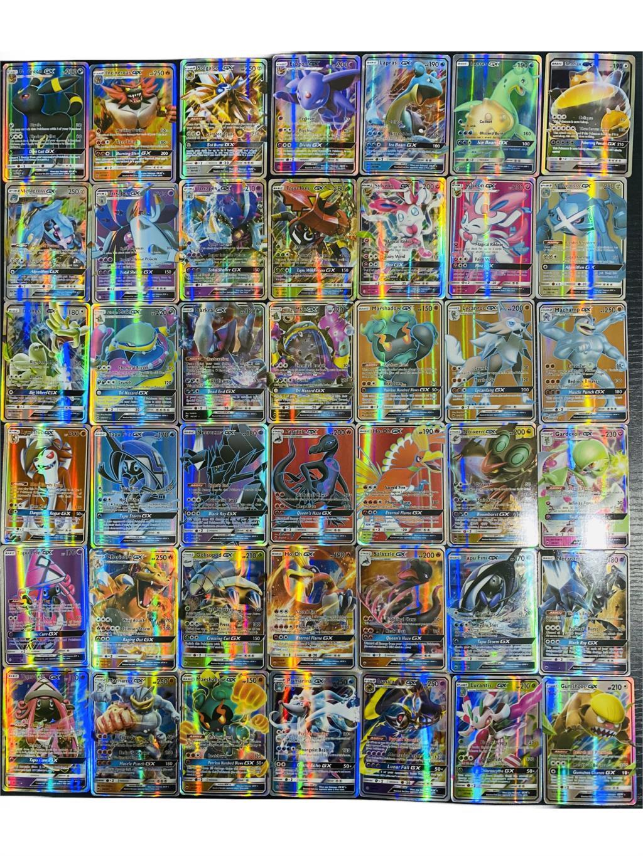 60/100/200/300 шт. игрушка «Покемон» gx усилительный насос не повторить блестящие английские карточки игра битва меню торговой детский костьюм ...