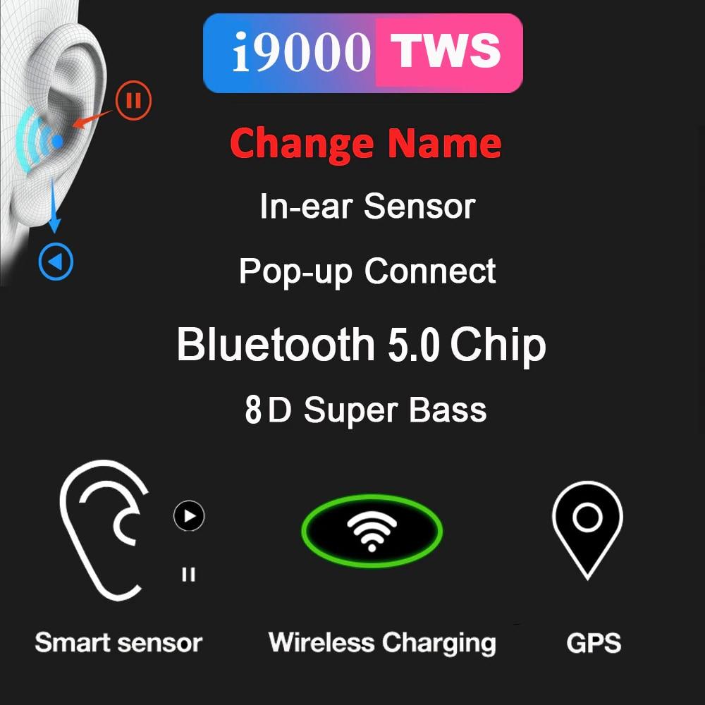 Новые i9000 TWS беспроводные наушники Air 2 с обратным магнитом зарядный чехол Bluetooth 5,0 наушники PK i2000 i5000 i90000 TWS