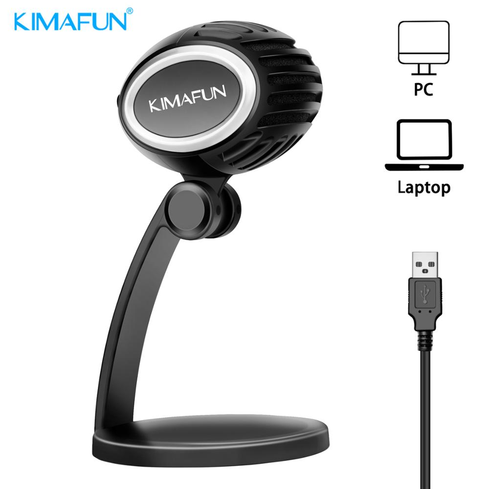 KIMAFUN USB Microphone For Mac Laptop And Computers For Recording Streaming Twitch Voice Overs Podcasting For Youtube Skype