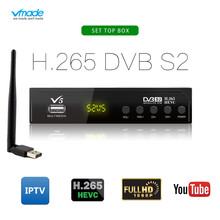 New Dvb S2 Decoder Satellite TV Receiver HD DVB-S2 H.265 Receptor Support Europe Cccam IPTV AC3 With USB WIFI Youtube