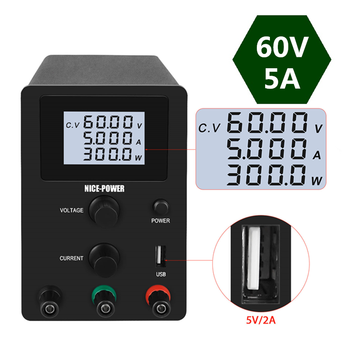 Newest Switching LAb DC Laboratory Power Supply 60V 5A Professional Bench Mini Adjustable Digital Power Source Regulable image