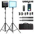 Weeylite sprite20 2 шт RGB видео светильник комплект светодиодный Панель видео светильник 2,4G Беспроводной пульт дистанционного управления для видео ...