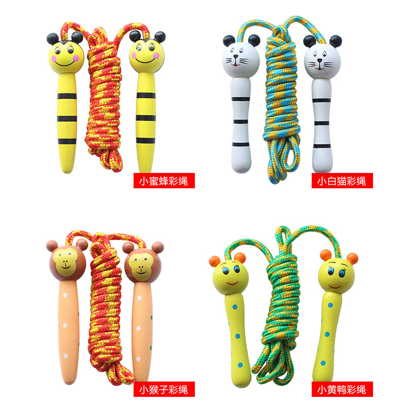 Jump Rope Children Jump Rope Parent And Child Jump Rope Kids Jump Rope Kindergarten Dance Sports Unisex Wooden Toy Rope