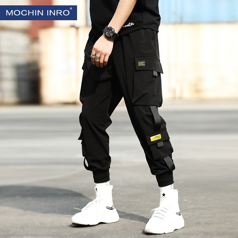 New Style Popular Brand Bib Overall Men's Casual Pants Loose Korean-style Beam Leg Capri Pants Men's Harem Athletic Pants