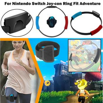 For NS Switch Fitness Ring With Adjustable Elastic Leg Strap Sport Band For Nintendo Switch NS joycon