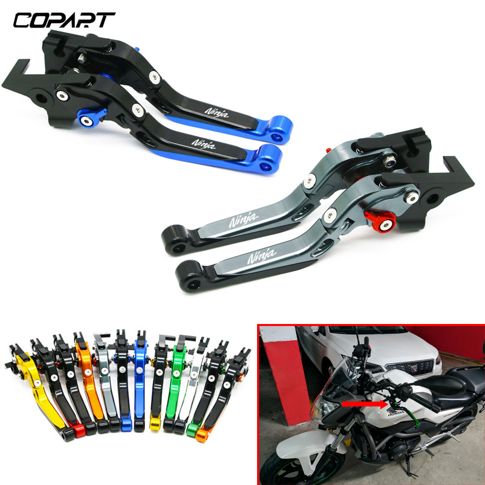 For <font><b>Kawasaki</b></font> <font><b>Ninja</b></font> 250 300 <font><b>650</b></font> Ninja250/300/<font><b>650</b></font> ZX6R Motorcycle Accessories Adjustable Folding Extendable Brake Clutch Levers image