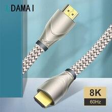 HDMI compatible 2.1 Cable Male to Male Cabo for Xiaomi Mi Box HDMI compatible Cord Wire 8K/60Hz 4K/120Hz 48Gbps TV Digital Cable