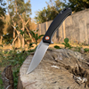 TUNAFIRE Folding Knife  D2 Tactical Outdoor  Stainless Steel Survival Hunting  Fishing Climbing Pocket Knife Fruit Cutter Tools 1