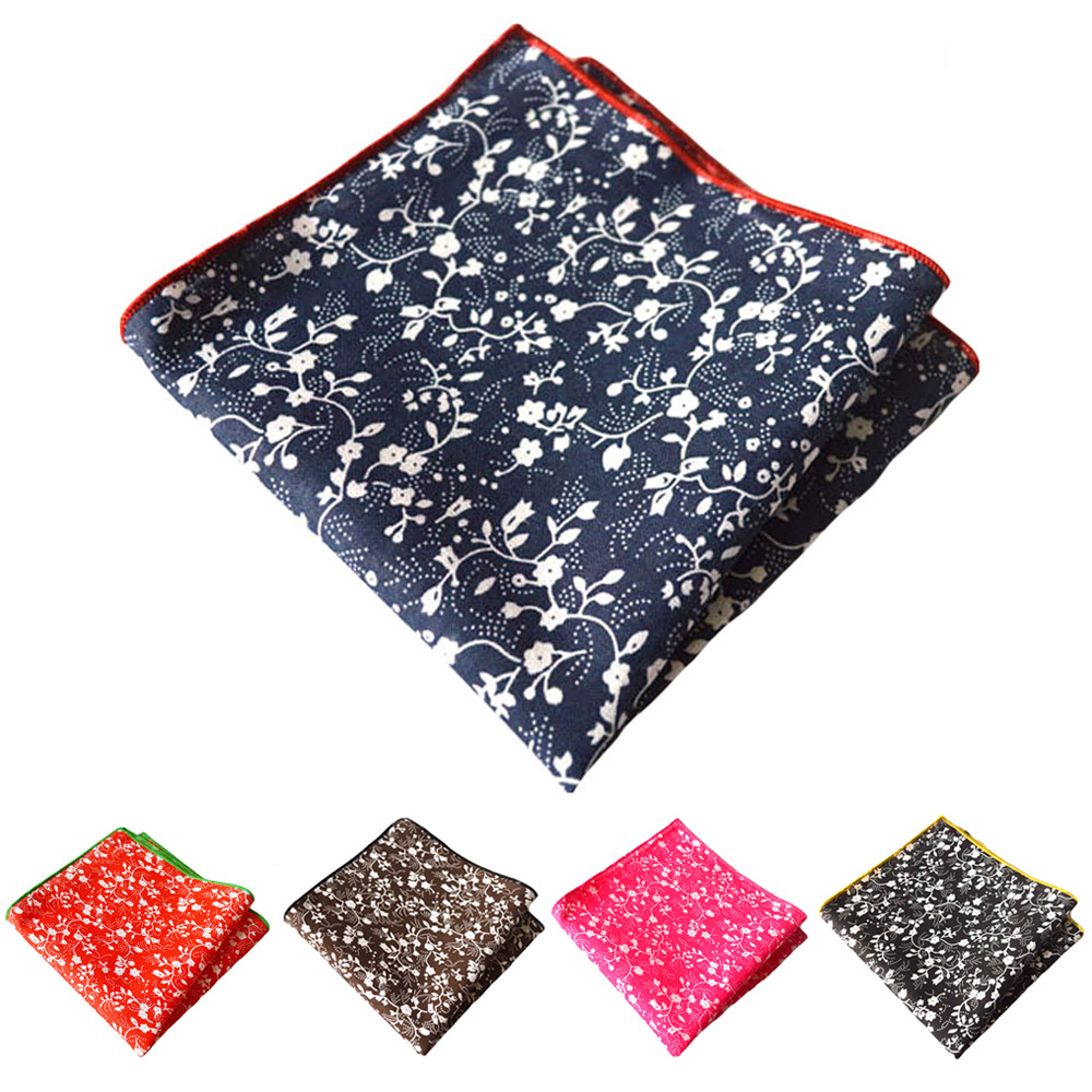 Mens Pocket Square Party Hanky Floral Printed Handkerchief Wedding Business