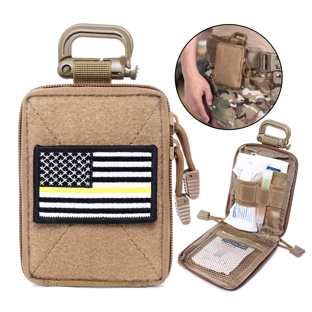 Tactical Molle EDC Pouch Range Bag Medical Organizer Pouch Military Wallet Small Bag Outdoor Hunting Accessories Vest Equipment