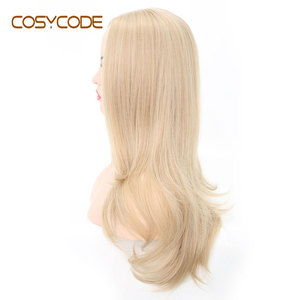 Image 2 - COSYCODE Synthetic Blonde Wig with Wavy Ends 24 Long Cosplay Wig for Women Heat Resistant Halloween Wig Non Lace Costume Wig
