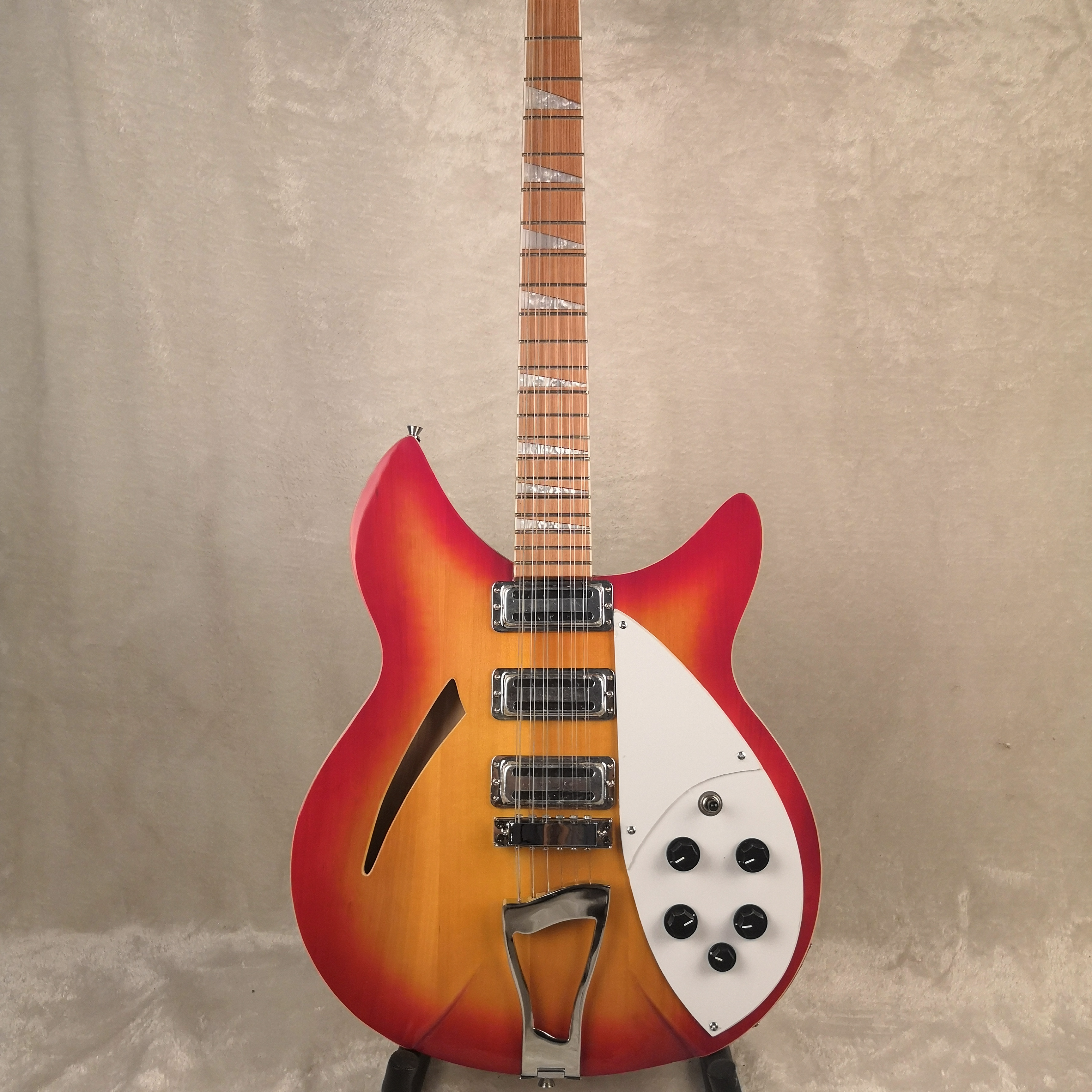 2020 12 String Electric <font><b>Guitar</b></font>, Ricken <font><b>360</b></font> <font><b>Guitar</b></font>,Cherry red Burst body,Rosewood fingerboard image