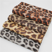 20x22cm Leopard Printed Leather Upholstery Fabric DIY Patchwork Hair Bow Purse Case Accessories Synthetic Leather DIY Material 6pcs 20x22cm shinny glitter fabric diy sewing patchwork faux leather upholstery fabric hnadicarft diy bow accessories material