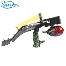 1Set Archery slingshot Suite Infrared Laser Fishing Hunting Slingshot Darts Reel Arrow Outdoor  Shooting Accessories