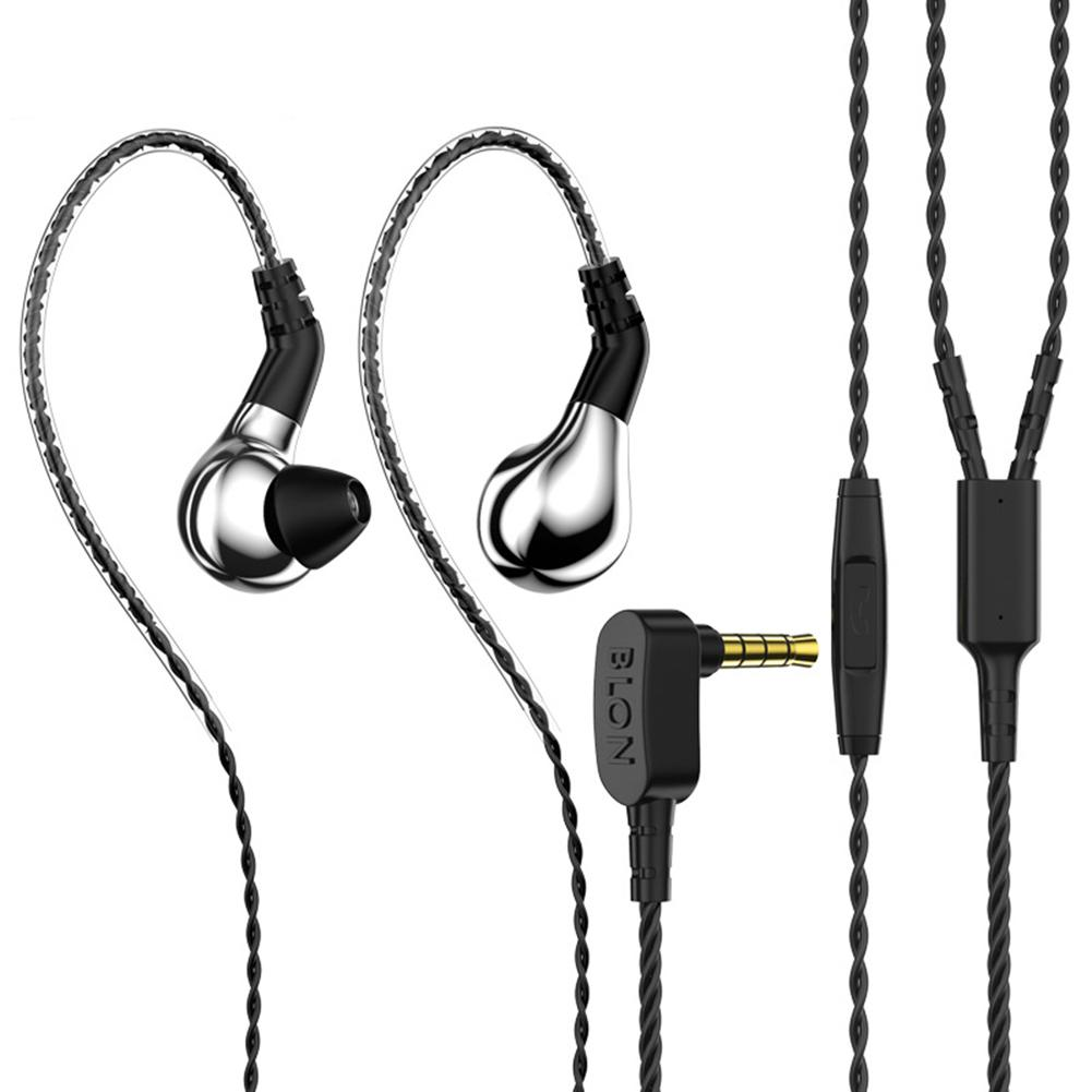 BLON BL03 1.2m Universal 3.5mm Plug HiFi In-Ear Wired Earphones Detachable Sport Earphone Comfortable To Wear For Phone,MP3, MP4 image