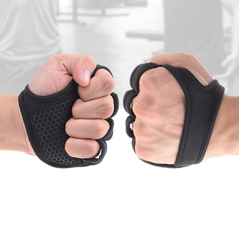Gym Fitness Handschuhe Hand Palm Protector Bodybuilding <font><b>Workout</b></font> Power Weight Lifting Handschuhe Hantel Griffe Pads image